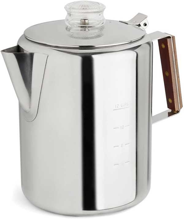 Tops 55705 Rapid Brew Stovetop Coffee Percolator